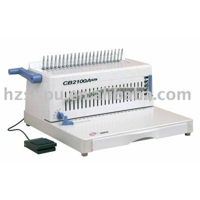 Simi- automático de peine de plástico vinculante máquina cb2100a plus