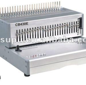 Semi- automática heavy duty pente vinculativo máquina cb430e