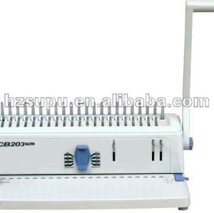 Papela4/tampa de plástico pente vinculativo máquina cb203plus