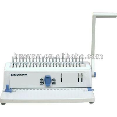 Papel a4/cubierta de peine de plástico vinculante máquina cb203plus