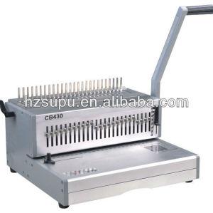 cb430 plástico pente vinculativo máquina