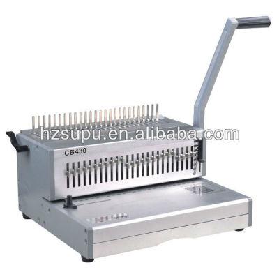 cb430 peine de plástico vinculante máquina
