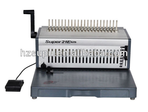 التلقائي آلة تجليد مشط super21e زائد