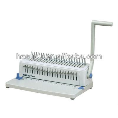 Plastic comb binding machine