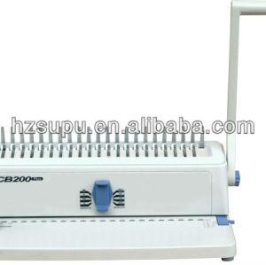 venta caliente peine de plástico vinculante máquina