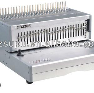 elétrico de plástico pente vinculativo socos e máquina