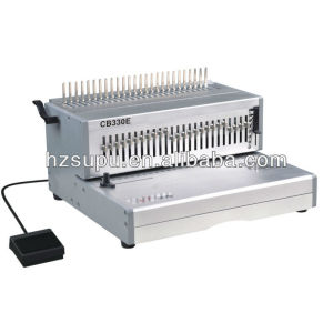electric plastic comb binding and punch machine