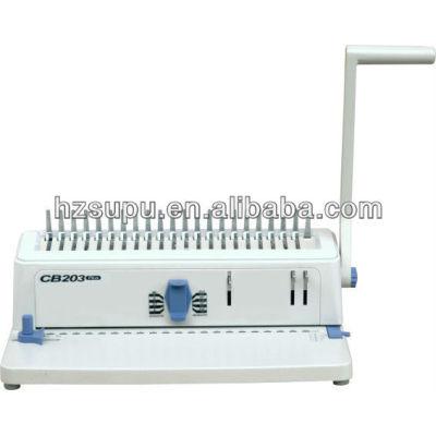 manual de perforación cambiante de alfileres peine vinculante equipo