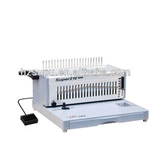 Electric plastic comb binder