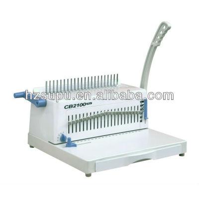 manual de peine de plástico vinculante máquina