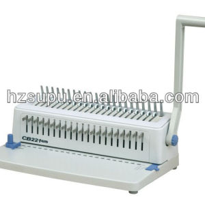 Manual plastic file binding machine