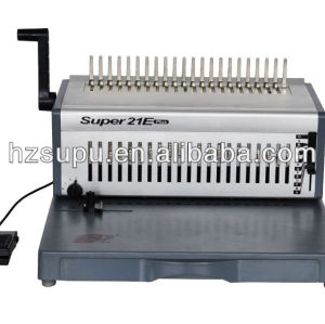 novo design pesados elétrica pente vinculativo máquina