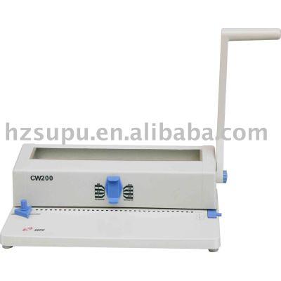 Doble alambre de la máquina de encuadernación( cw200)