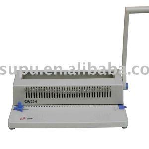 manual de alambre máquina de encuadernación cw234