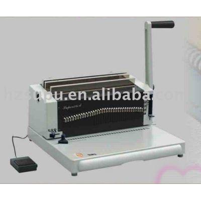 Heavy duty twin wire-o binding machine