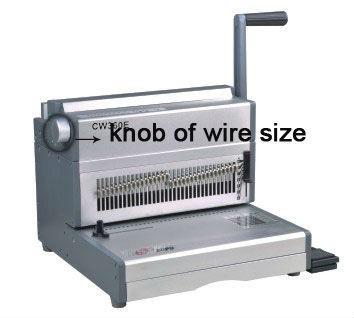 الكهربائية الثقيلة cw360e س سلك آلة تجليد الكتب