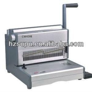 motor eléctrico de alambre máquina de encuadernación cw430e