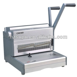Alambre de aluminio vinculante& la máquina de perforación para la fábrica de cw360
