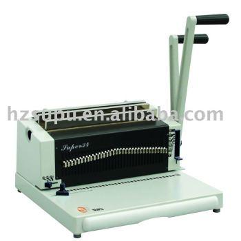 escritório papelaria fio vinculativo máquina super34