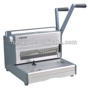 doble pequeña máquina obligatoria de alambre para uso de oficina cw300