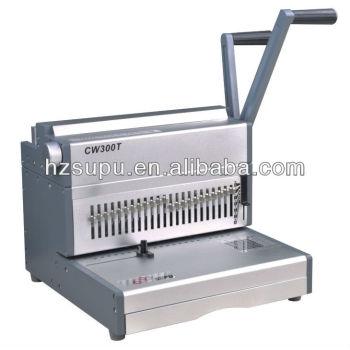 الثقيلة سلك آلة تجليد cw300t المكاتب والمصانع