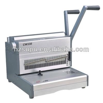 manual de doble bucle de alambre máquina de encuadernación