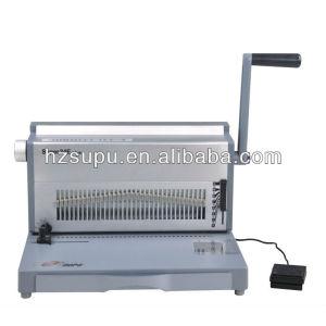 Electrical aluminium 3:1 twin wire binding machine