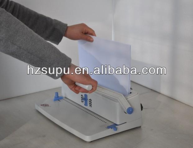 manual de la oficina de doble alambre de la máquina de encuadernación