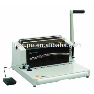simi-automatic Heavy duty double wire binding machine