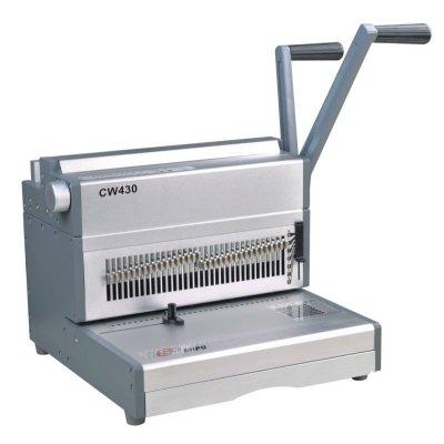 papeldeoficina y punch máquina obligatoria de alambre para 180sheetscw430