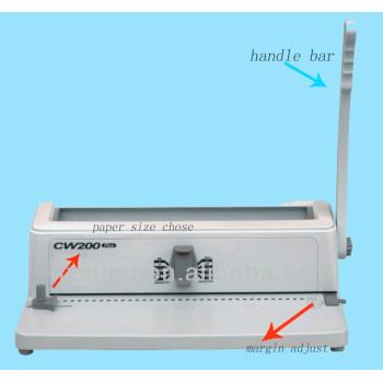 دليل لكمة وأسلاك آلة تجليد 3:1 الملعب( cw200)
