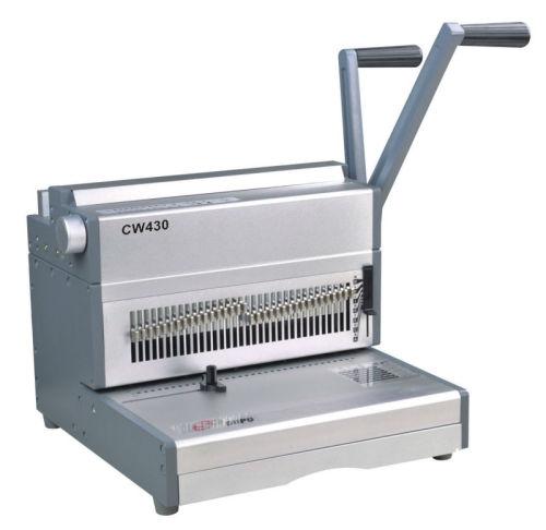 حجم ورقة a3 cw430 الثقيلة سلك آلة تجليد