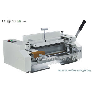 Manual cutting ,gluing and binding system