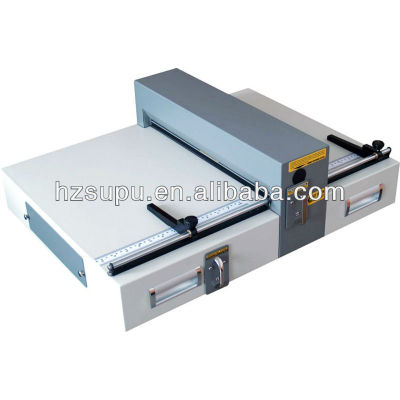 Electrical paper creasing and perforating machine