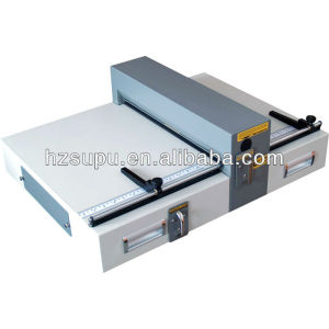 Electrical creasing and perforating machine