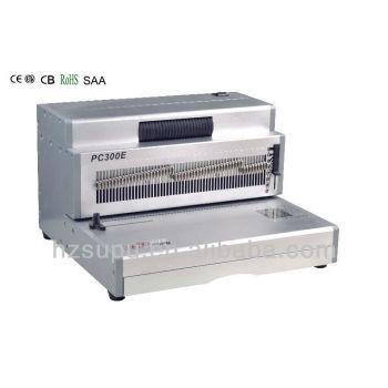 Elacyric escritório de furo de perfuração& bobina vinculativo máquina pc300e