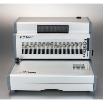 La oficina elacyric agujero de perforación& bobina de la máquina de encuadernación pc300e