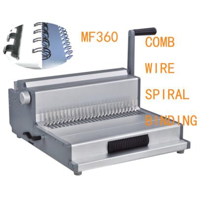 Multifunction Binding Machine comb wire spiral binding(MF360)