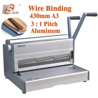 A3 size manual double wire binding machine(CW430)