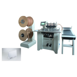 Automatic cutting heavy duty double wire book binding machine