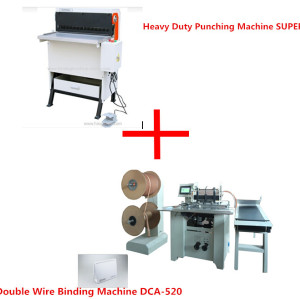 Electric heavy duty punch machine and double wire binding machine(SUPER600&DCA-520)