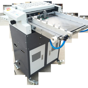 Automatic creasing and perforating machine with half cutting