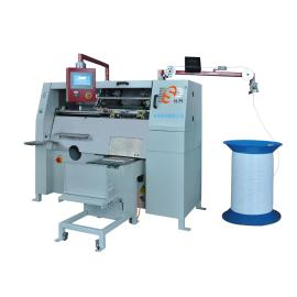 Automatic metal spiral forming and binding machine