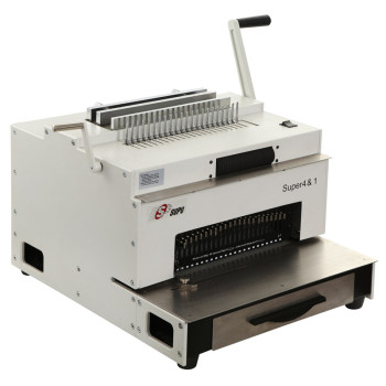 Multifunction binding machine with comb wire spiral coil and punching