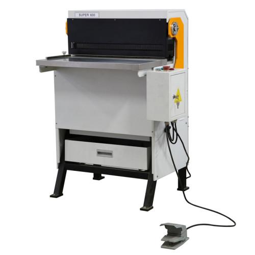 Punzonadora de papel industrial SUPU con troquel intercambiable SUPER600