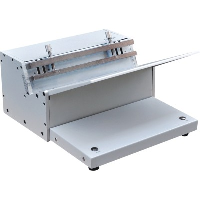 Electrical twin loop wire binding machine