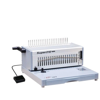 Electrical office A4 Size paper punching and comb binding machine SUPER21E PLUS