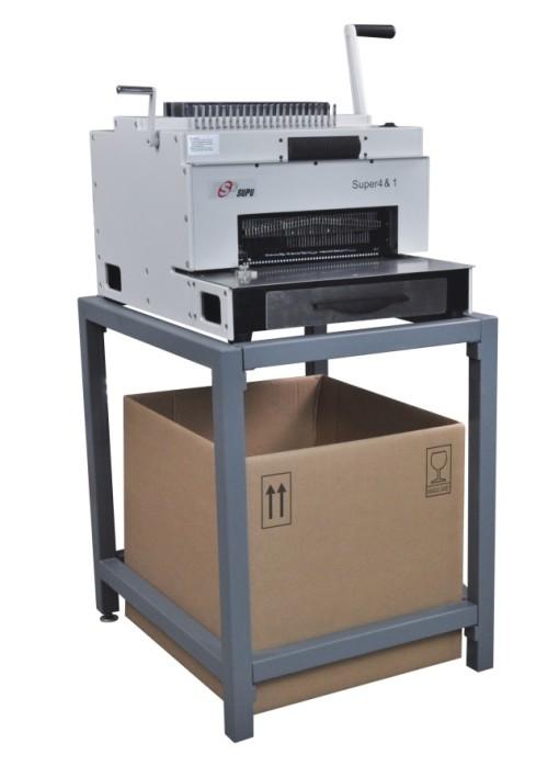 سوبو متعددة الوظائف آلة تجليد مع مشط سلك لولبية لفائف واللكم (SUPER4 & 1)
