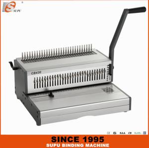SUPU Heavy Duty A3 Size Manual Comb Binding Machine Model CB430