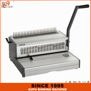 SUPU Heavy Duty A3 Size Manual Comb Binding Machine Model CB430
